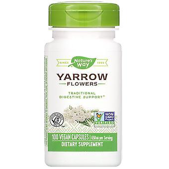 Nature-apos;s Way, Fleurs Yarrow, 650 mg, 100 Capsules végétaliennes