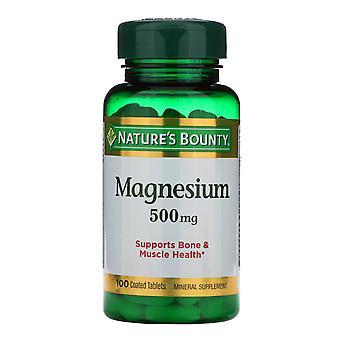 Natur's Bounty, Magnesium, 500 mg, 100 belagda tabletter
