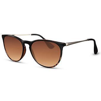 Solglasögon Unisex panto brun/brun (CWI2482)