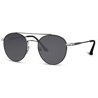 Sonnenbrille Unisex  pilot/panto   cat. 3 schwarz