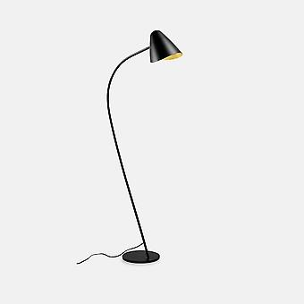 Leds-C4 Organic - Floor Lamp Organic Black Golden 1x E27