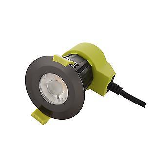 Inspiriert Dlux - Bazi - dimmbare LED Einbau Downlight, schwarz Chrom, 38 Grad Abstrahlwinkel, 840lm, 5000K, IP65, DRIVER INCLUDED