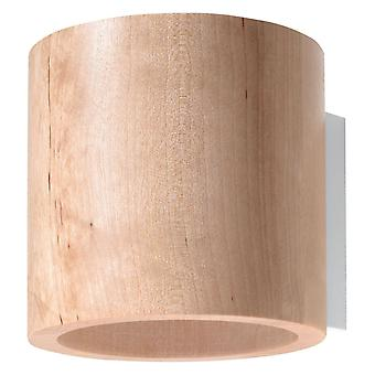 1 Light Wall Light Natural Wood, G9