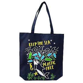 WPL Keep The Sea Plastic Free - Large Tote Bag