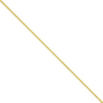 14k Yellow Gold Polished Lobster Claw Closure 2mm Bismark Chain Ankle Bracelet Jewelry Gifts for Women