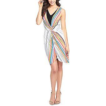 RACHEL Rachel Roy | Striped Twist-Front Dress