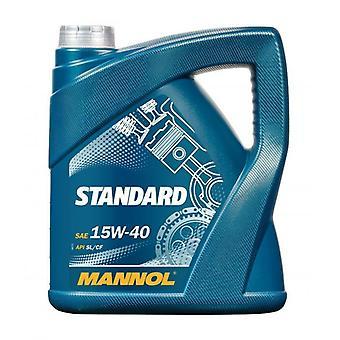 Mannol Standard 5L Universal Mineral Engine Oil 15w40  API CF/SL
