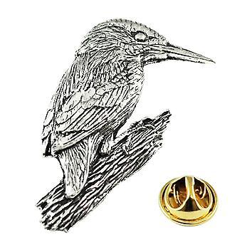 Ties Planet Kingfisher Bird Anglais Pewter Lapel Pin Badge