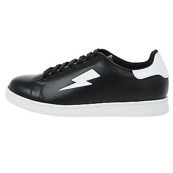 Neil Barrett Thunderbolt Tennis Low Black Sneakers