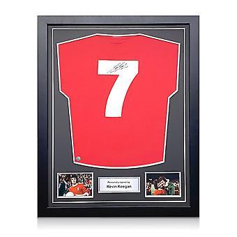 Kevin Keegan Signed Liverpool 1973 Number Seven Football Shirt. Standard Frame