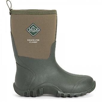 Muck Boots Edgewater Classic Short Mens Rubber Wellington Boots Green
