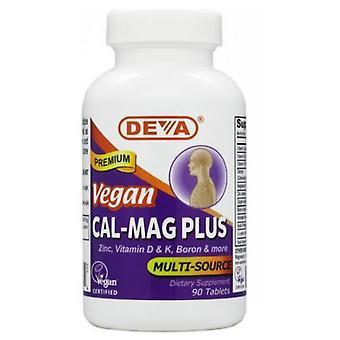 Deva Vegan Vitamins Vegan, Cal-Mag Plus, 90 Tab