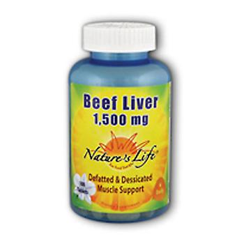 Nature's Life Beef Liver, 1500 mg, 100 tabs