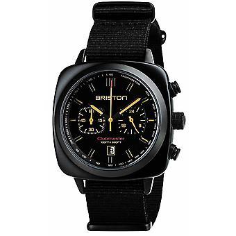 Briston Clubmaster Trendsetter Sport Acetate Chronograph Watch - Black/Orange