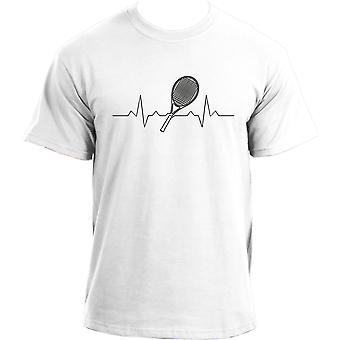 Heartbeat Tennis T-Shirt I Tennis Racquet Heartbeat Tshirt Sports T-Shirt