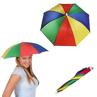 Ladies mens adulto multi color festival essencial guarda-chuva chapéu de chuva fantasia vestido azul/vermelho /amarelo 32cm