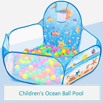 Cartoon Folding Indoor Ocean Ball Pool Layout Fence Baby Game House's Wave