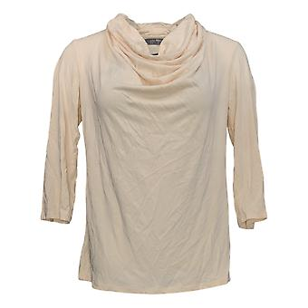 Lisa Rinna Collection Women's Top 3/4 Sleeve Cowl-Neck Pink A352102