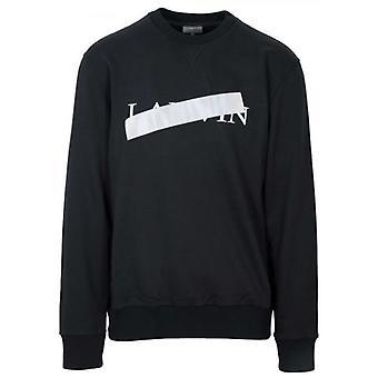Lanvin Black Reflective Cross Sweatshirt
