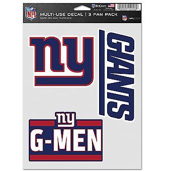 NFL Tarra Monikäyttöinen setti 3 20x15cm - New York Giants