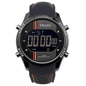 SMAEL 1283 Digital Uhr LED Männer Sport Outdoor Silikon Armband Militär männlich