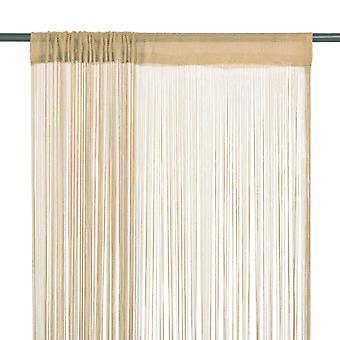 Cortinas de rosca vidaXL 2 uds. 140 x 250 cm beige