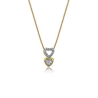 hjerte diamant halskjede