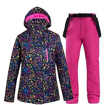 Talvi hiihtopuku/takki ja housut/takki, lämmin vedenpitävä/tuulenpitävä