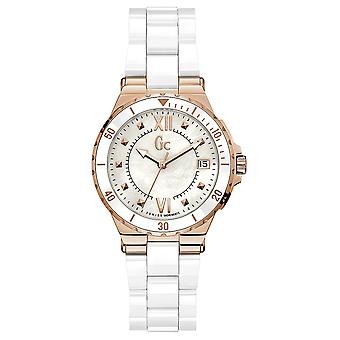 Gc watches ceramic structura watch for Women Analog Quartz with stainless steel bracelet Y42001L1