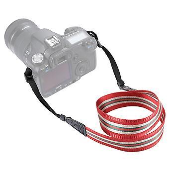 PULUZ Stripe Style Series Band Neck Strap Camera Strap for SLR / DSLR Cameras (Rouge foncé)