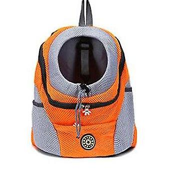 Double Shoulder Portable Dog Carrier Travel Backpack Mesh Bag