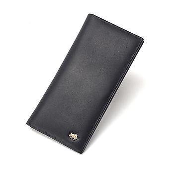 Leather Wallet Men Credit Card Holder Wallet Rfid Blocking Short Purse