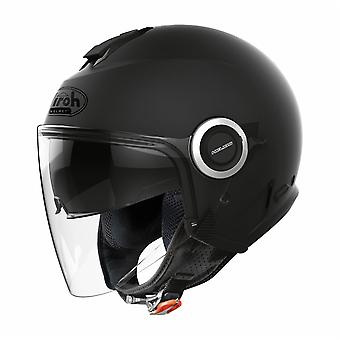 Airoh Helios Jet Color Open Face Motorcycle Helmet Hi-Vis Reflective Black
