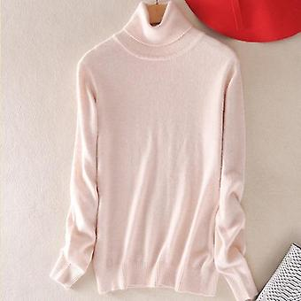 Turtleneck Women's Plus Size Knitted Turtleneck Winter Cashmere Sweater
