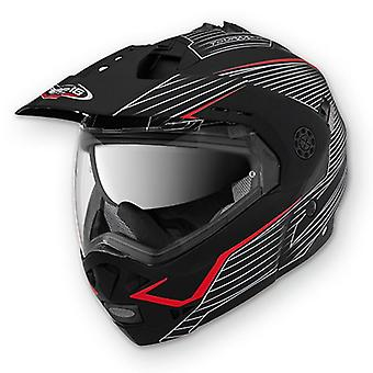 Caberg Tourmax Sonic Motorcycle Helmet Matt Black/Red ACU Approved