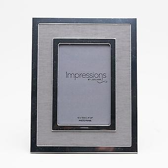 Impressions By Juliana Silverplated Linen Insert Photo Frame 4 X 6