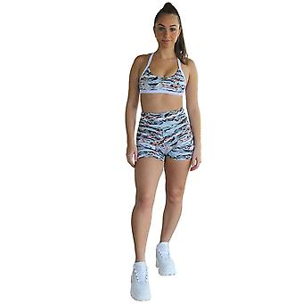 Kali Seamless High Rise Yoga Shorts - Cobra Print