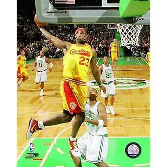 Impressão de fotos de ação de LeBron James
