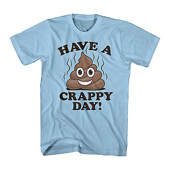 Have A Crappy Day Funny Emoji Quote Men's T-shirt