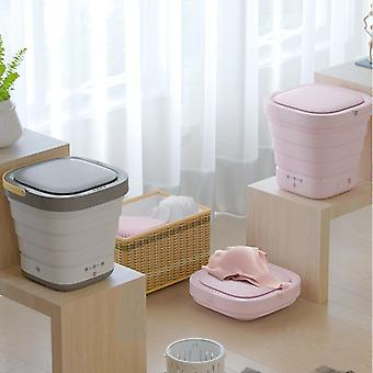 2 In 1 Mini Clothes Washing Machine & Bucket Automatic, Underwear Foldable