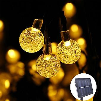 New Led Crystal Ball Solar Lamp Power String Fairy Lights Garlands Christmas