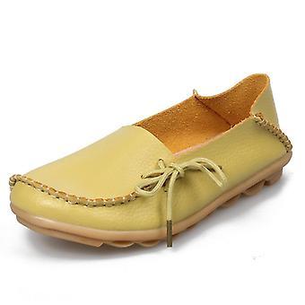 ファッションオックスフォードレザーソフトウォーキング女性靴