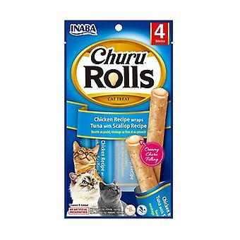 Churu Rolls for Cats Tuna Recipe with Scallops None
