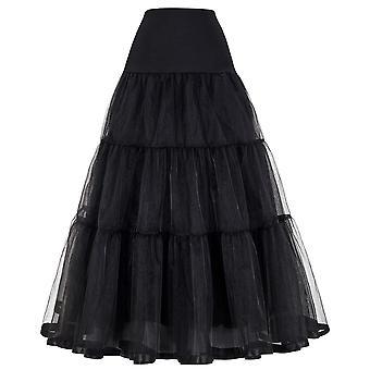 תחתונית ארוכה קפלים קרינולינה בציר שמלות כלה מתחת לחצאית