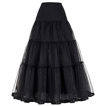 Long Petticoat Ruffled Crinoline Vintage Wedding Bridal Dresses Underskirt