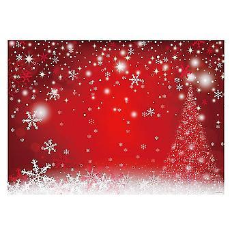 Allenjoy 7x5ft de iarnă roșu și de fundal pom de Crăciun pentru fotografie fulg de nea bokeh fotografie backdr