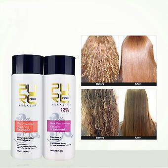 12% Formalin Keratin Hair Treatment And Purifying Shampoo Hair Care