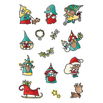 LDRS Creative Holiday Gnomes Set4x6 Inch Clear Stamps