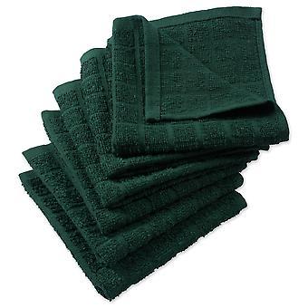 Dii Solid Dark Green Windowpane Terry Dishcloth (Set di 6)