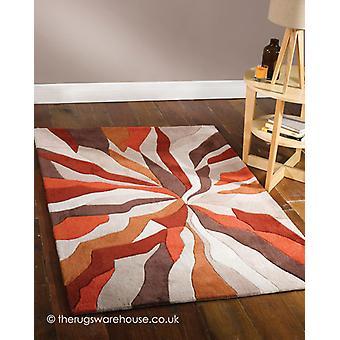 Splinter oranje tapijt